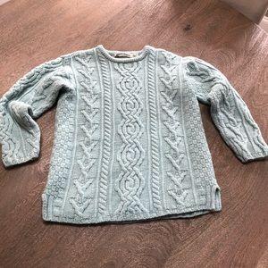 ARAN CRAFTS 100% Merino Wool Sweater  Sz XS